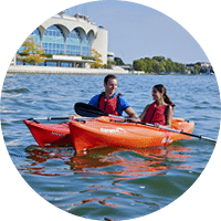 Living In Wisconsin: Kayak on Lake Monona