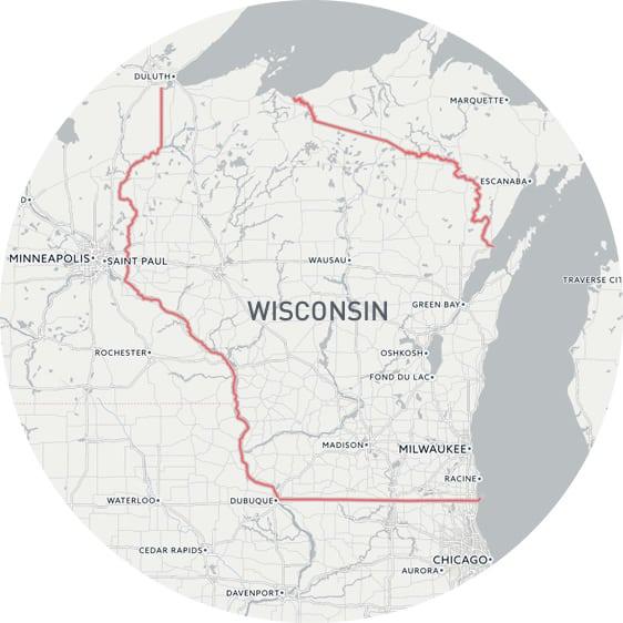 威斯康辛州地图